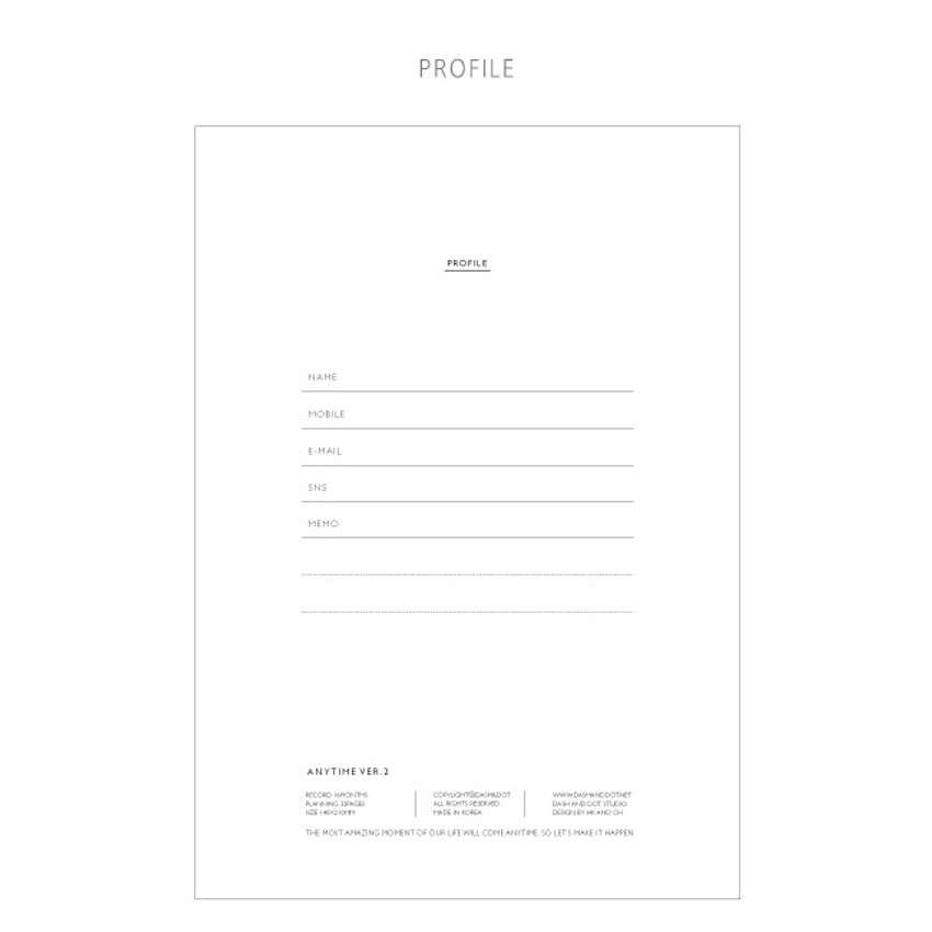 Profile - Make it happen undated monthly planner ver.2