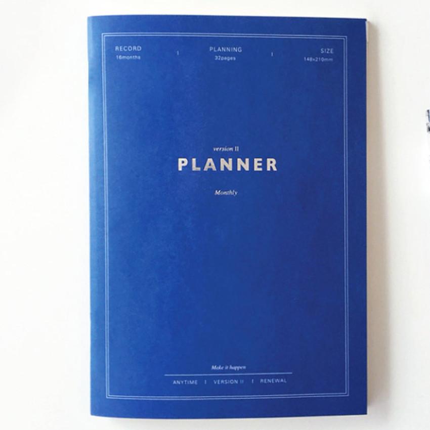 Marine blue - Make it happen undated monthly planner ver.2