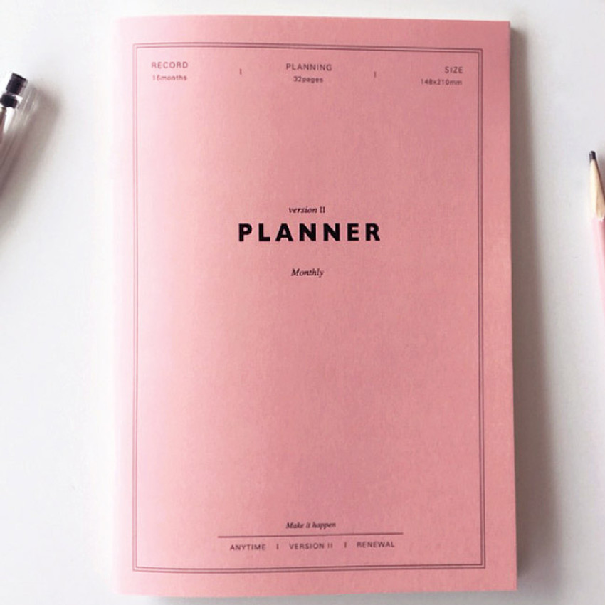 Spring pink - Make it happen undated monthly planner ver.2