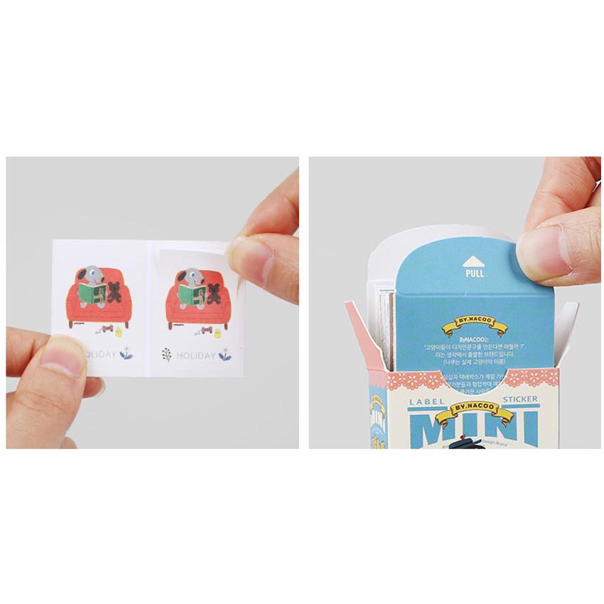 Detail of Village small label sticker set
