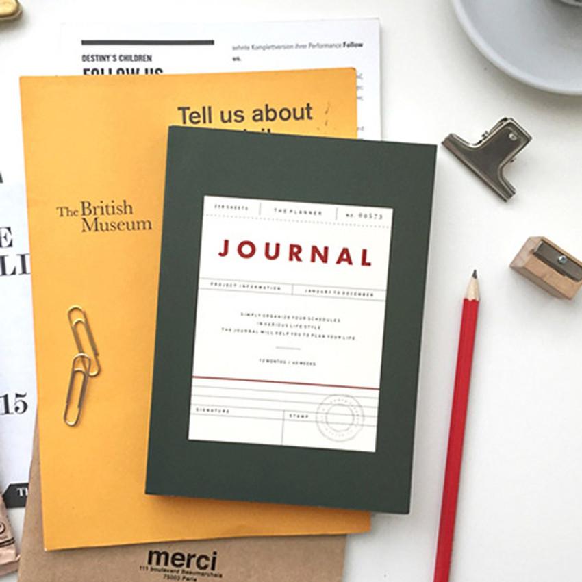Vintage undated journal scheduler
