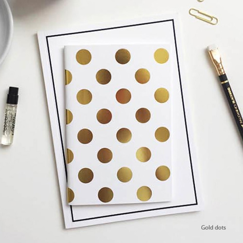 Gold dots - the blank plain notebook