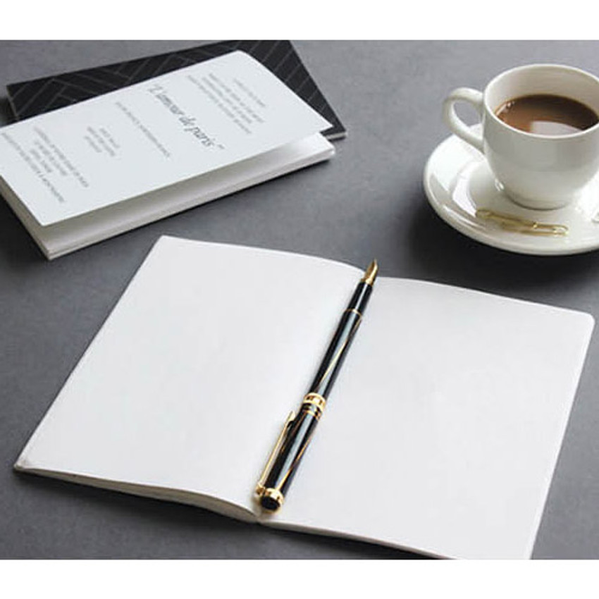 the blank plain notebook