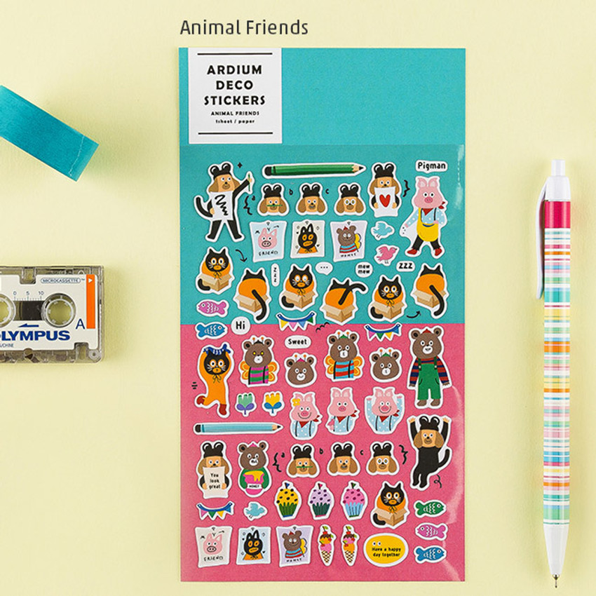 Animal friends - Colorful and unique deco sticker