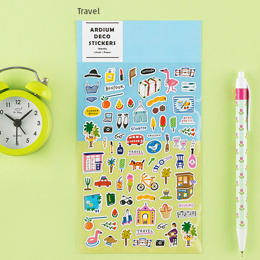 Travel - Colorful and unique deco sticker