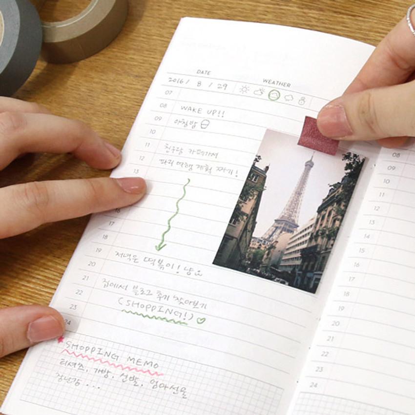 Daily plan - Achievement handy travel planner