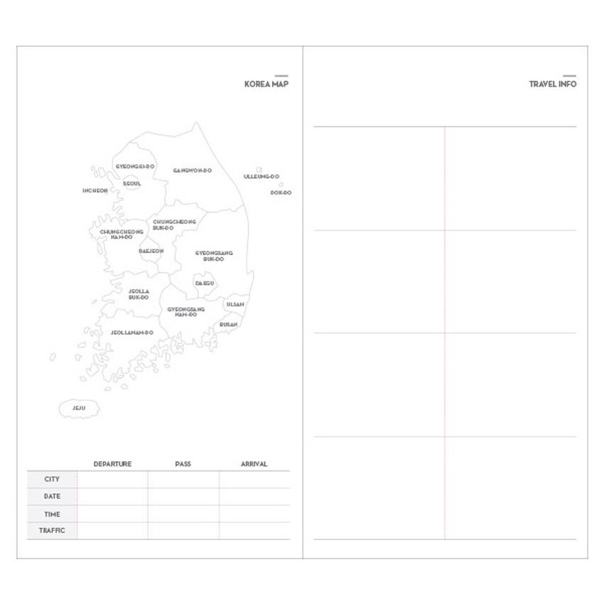Korea map, Travel info