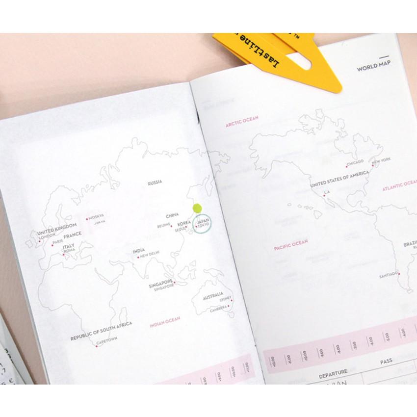 World map - Achievement handy travel planner