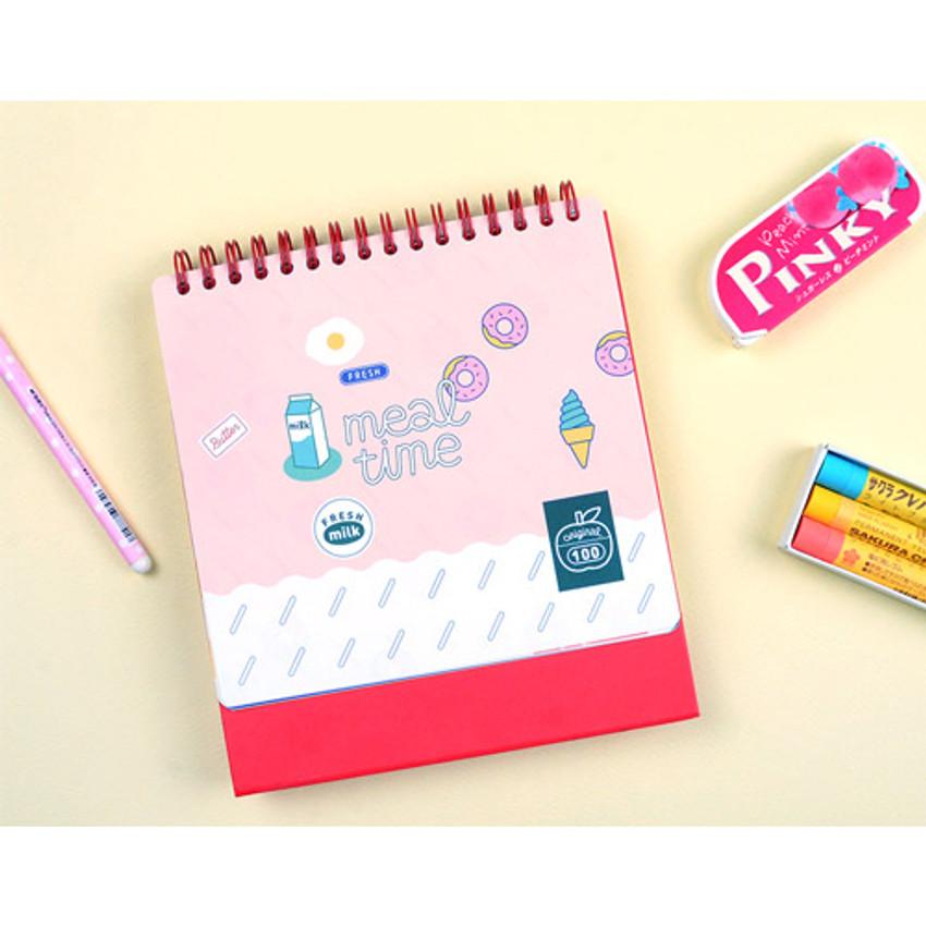 Pink room - Du dum 100 days illustration desk planner