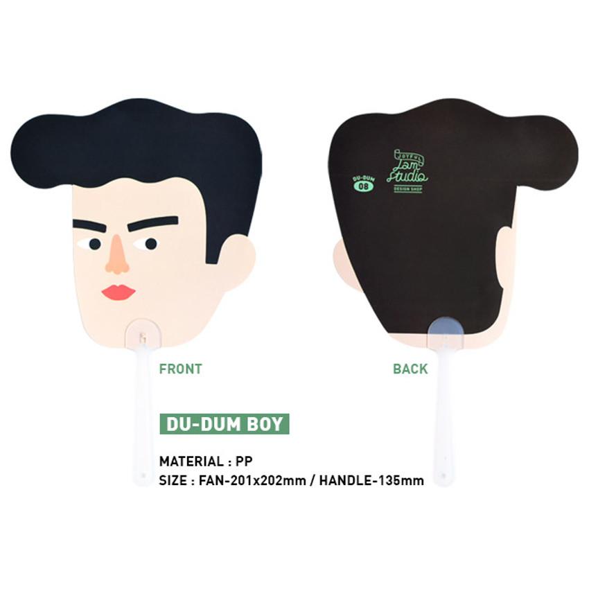 Boy - Du dum mask handy fan