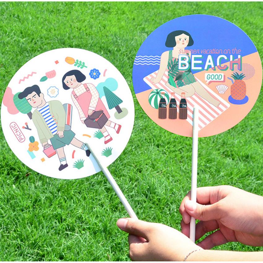 Du dum summer circle handy fan