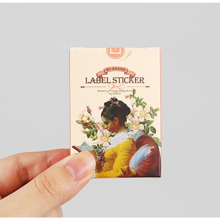 Reading label paper sticker set