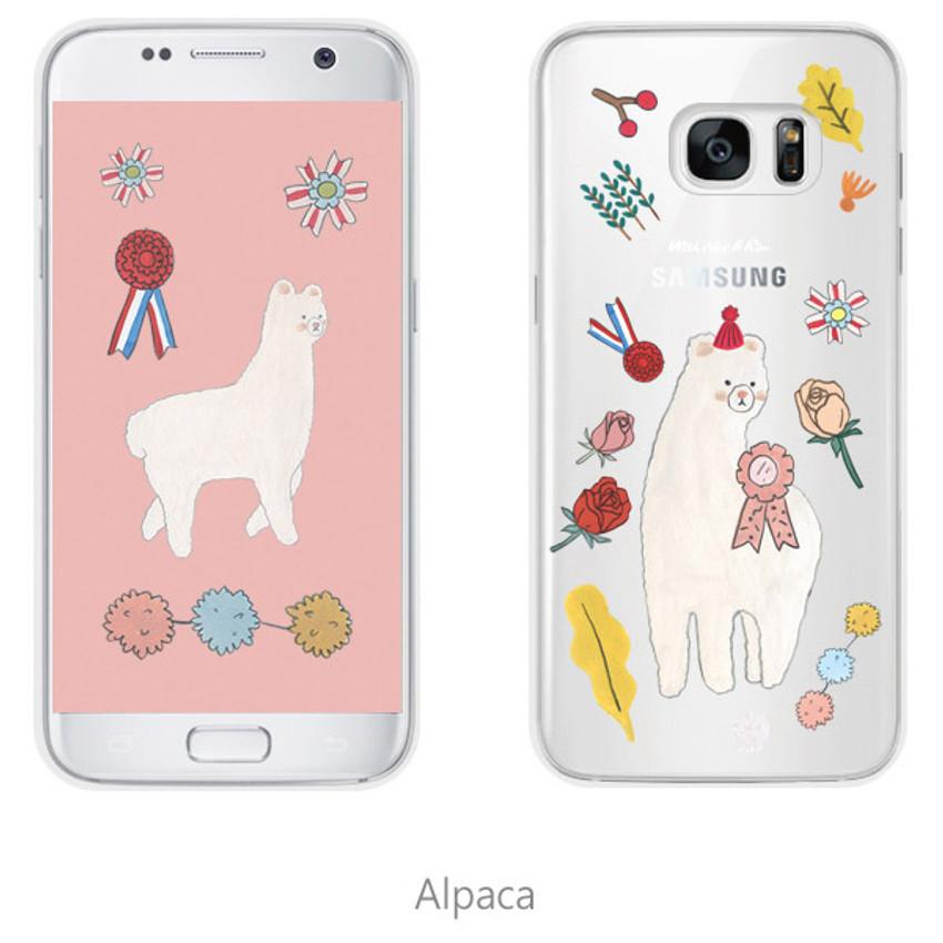 Alpaca - Rim TPU soft galaxy S7 smartphone case