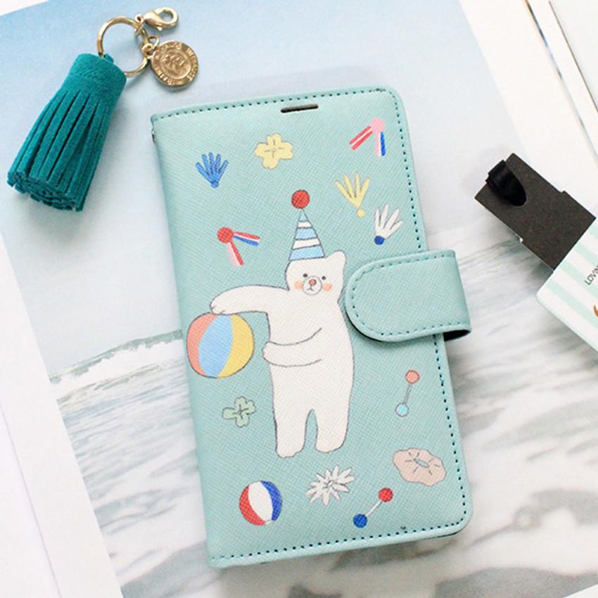 Mint bear - Rim diary flip case for iPhone 6