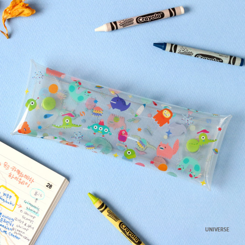 Universe - Bon Bon clear folding pencil case