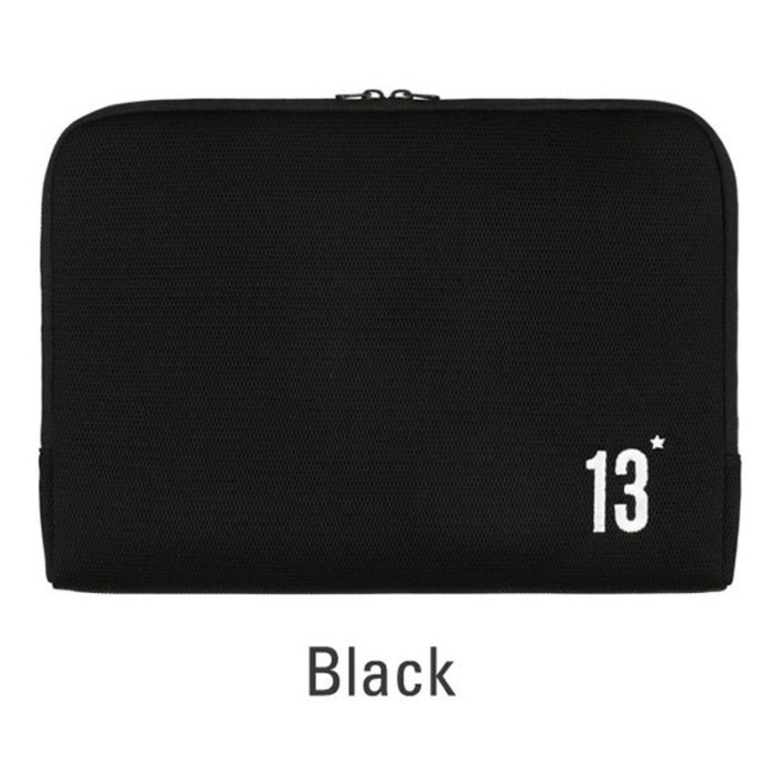 Black - Table talk 13 inches laptop air mesh pouch