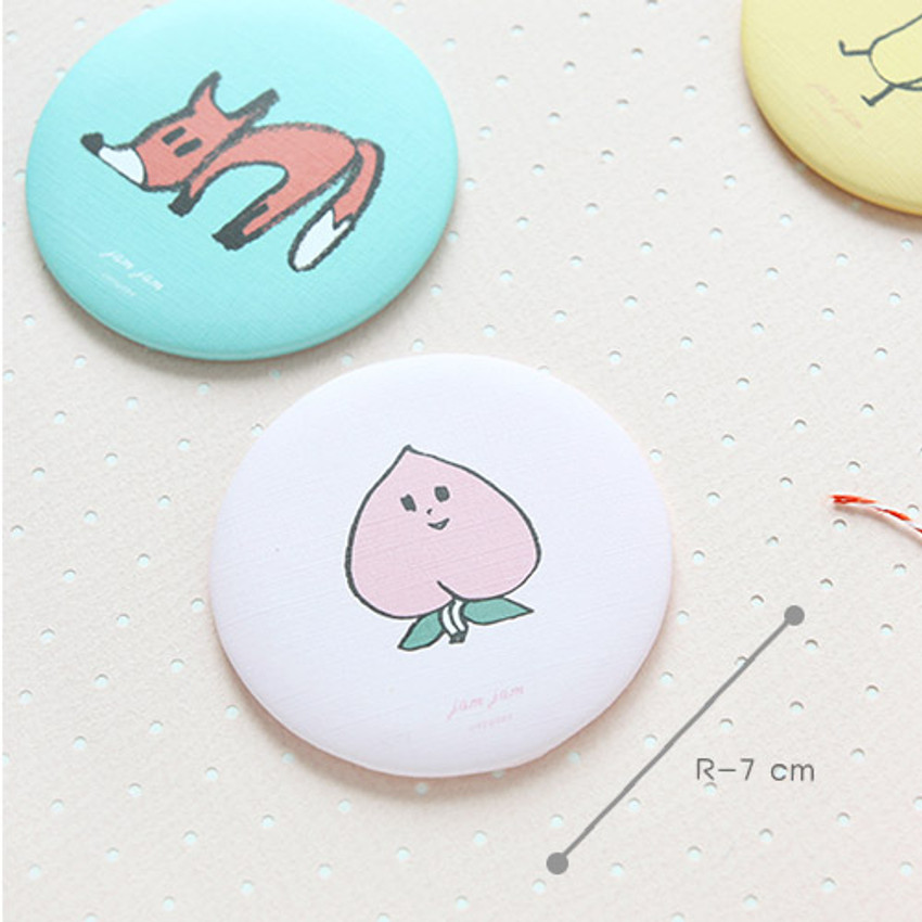 Size of Jam Jam cute pattern round hand mirror