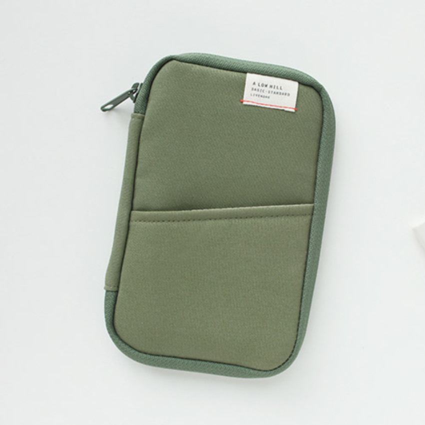 Light green - A low hill zip around pocket multi pouch