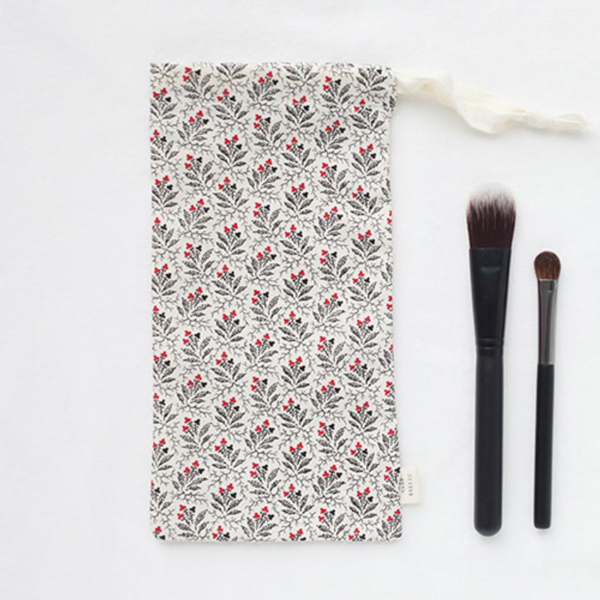 Pansy - Warm breeze pattern drawstring pouch