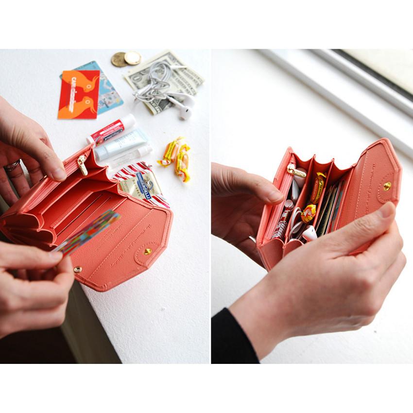 Happy holiday half clutch wallet