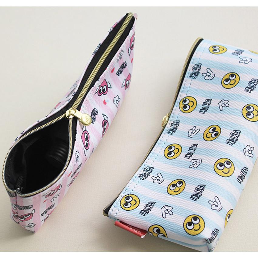 Hello pattern zipper pencil case
