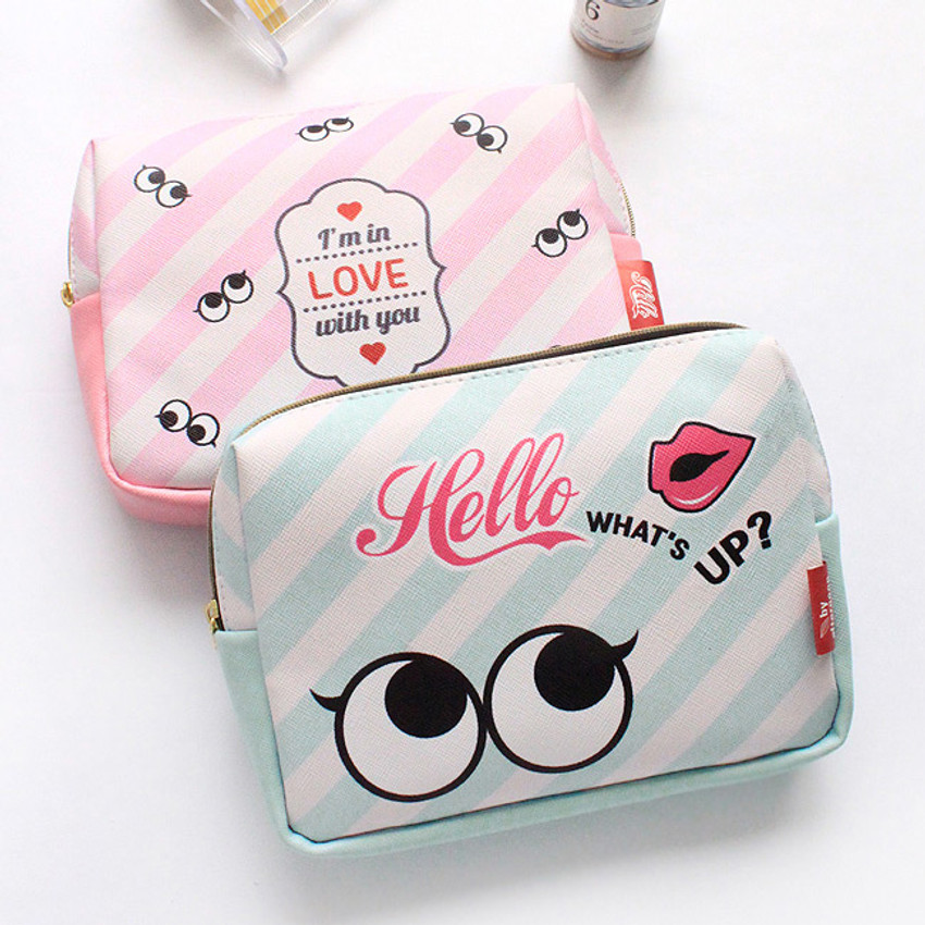 Afternoon Hello square zipper pouch