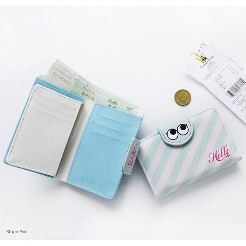Stripe mint - Hello daily medium wallet