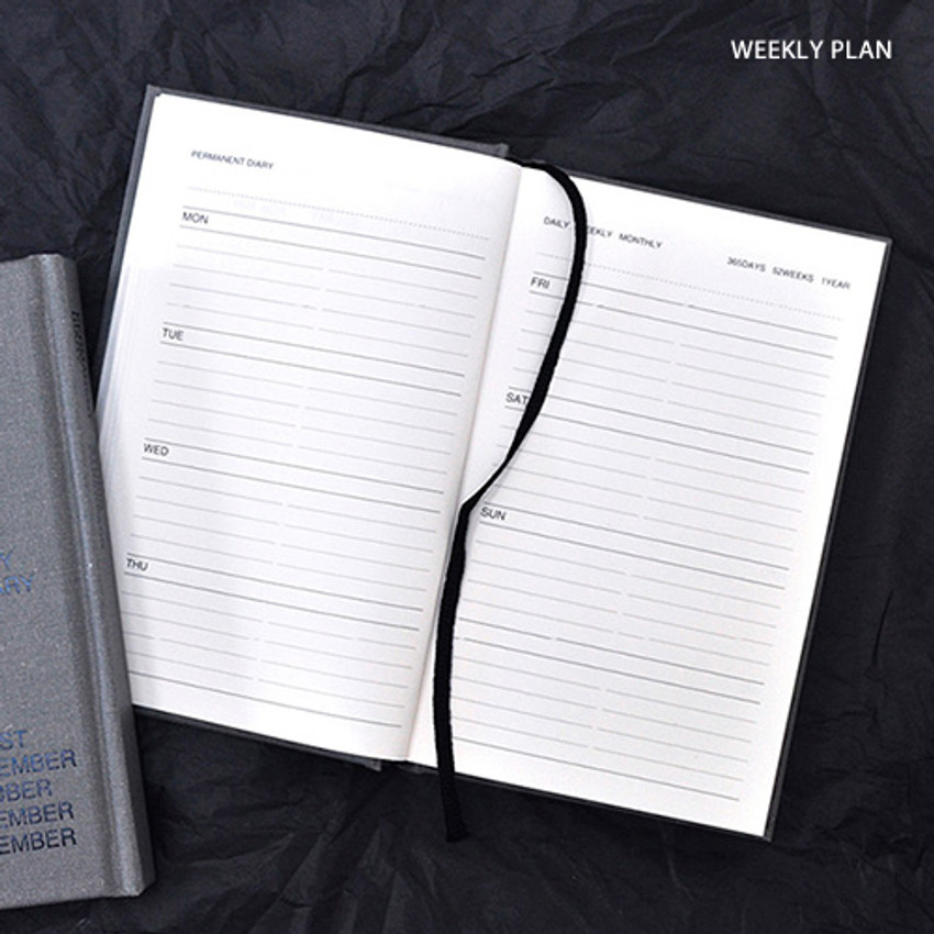 Weekly plan - Permanent hardcover undated diary planner