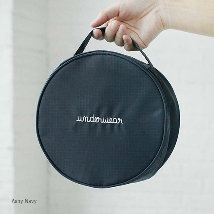 Ash navy - 2NUL Circle travel pouch