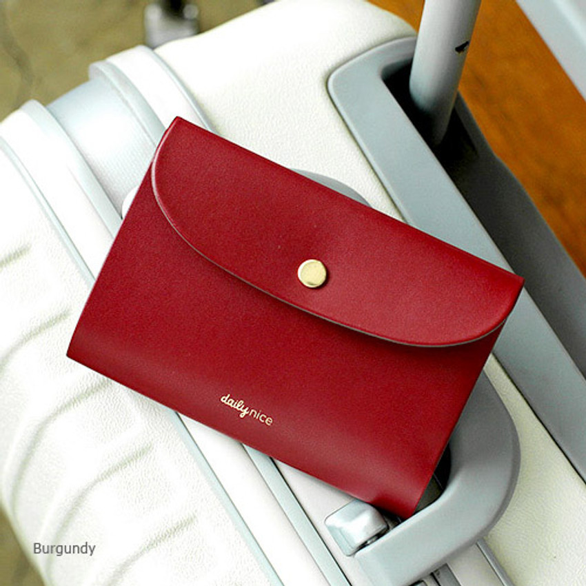 Burgundy - 2NUL Daily nice passport cover