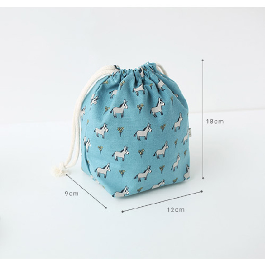 Size of Jam Jam pattern drawstring pouch