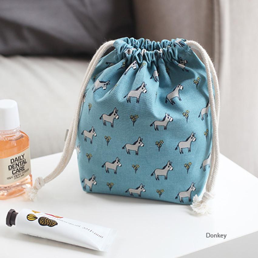 Donkey - Jam Jam pattern drawstring pouch