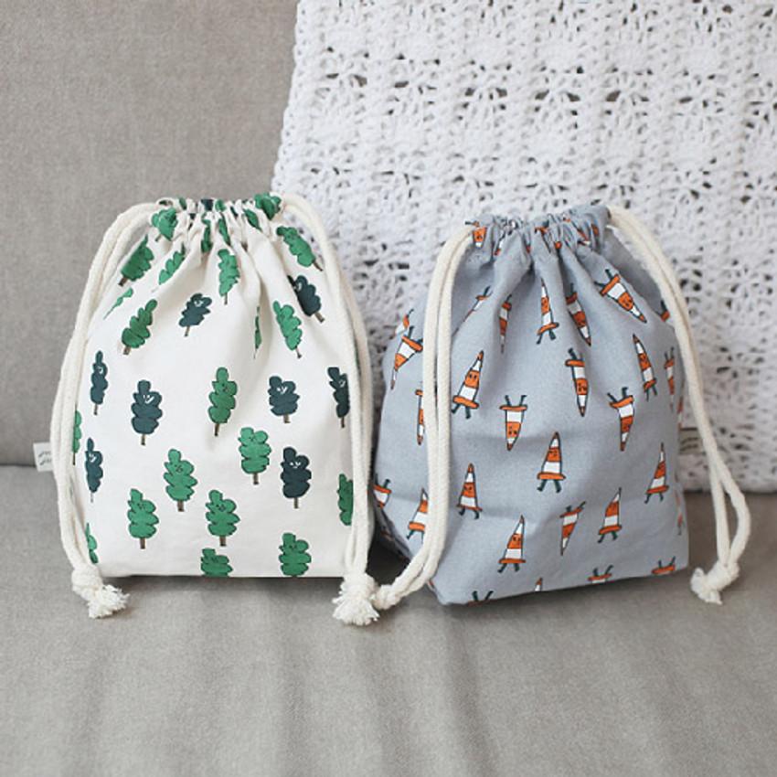 Jam Jam pattern drawstring pouch