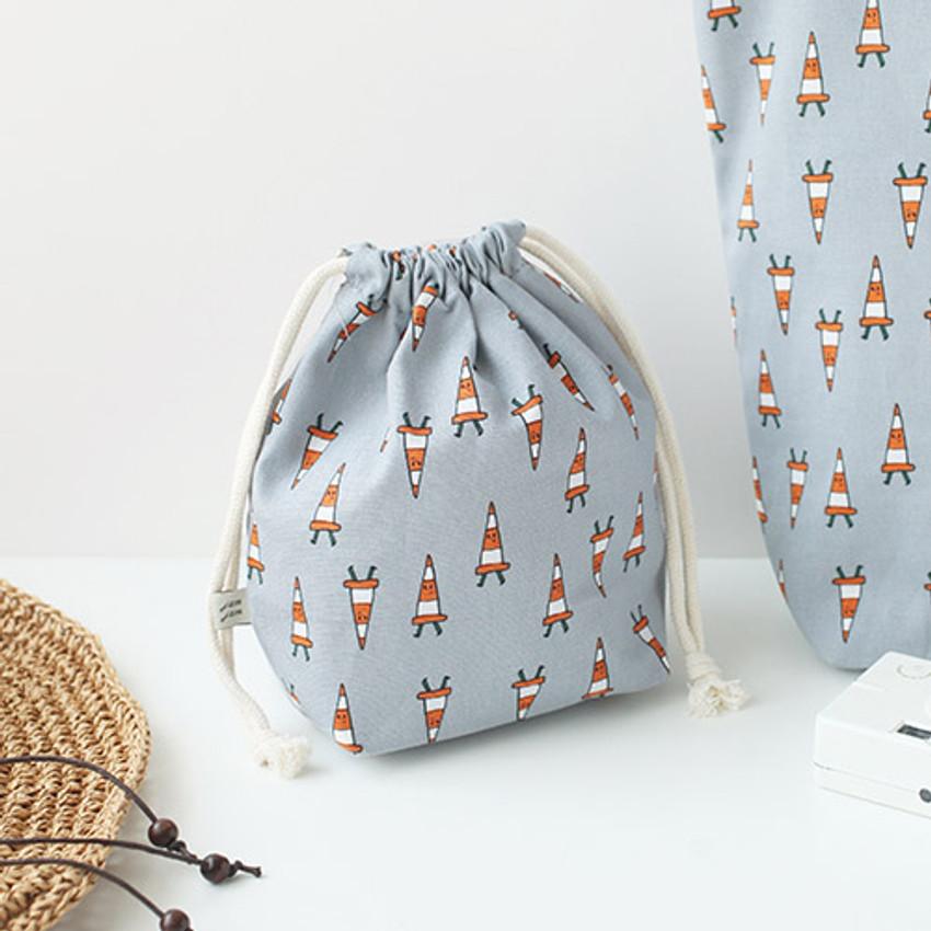 Cone - Jam Jam pattern drawstring pouch