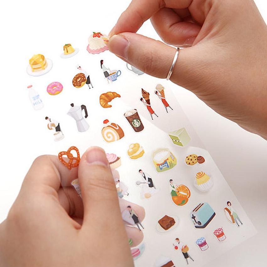 Detail of Dessert little universe deco transparent sticker