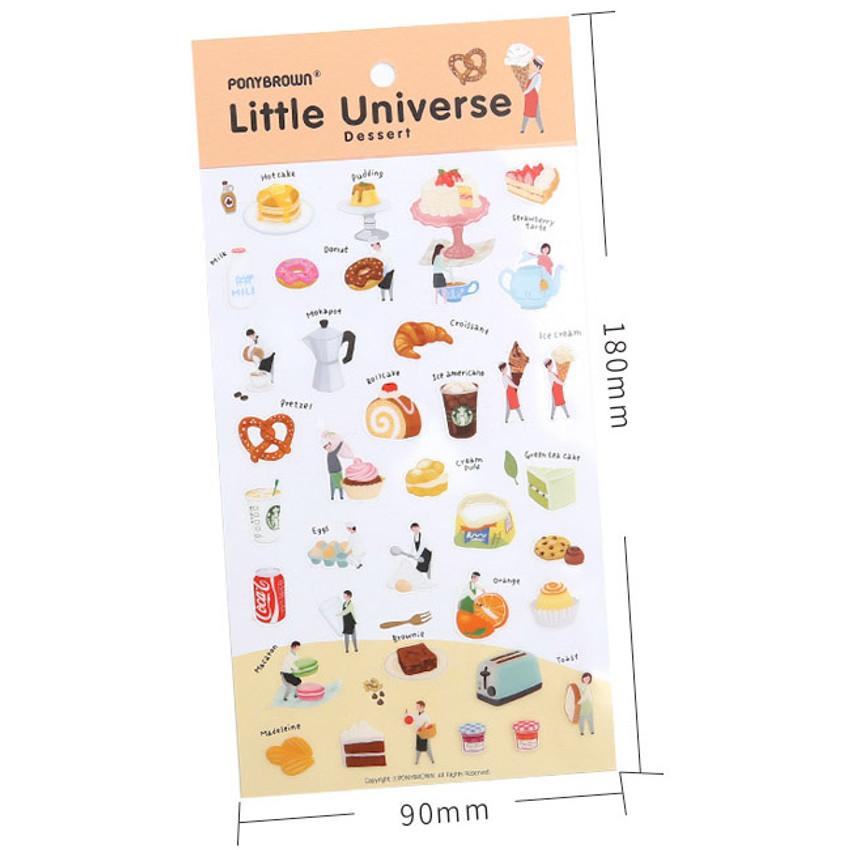 Dessert little universe deco transparent sticker