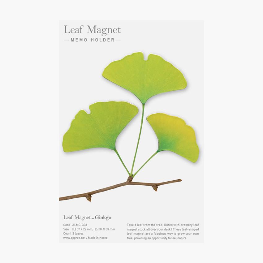 Appree Gingko leaves magnet set - Green