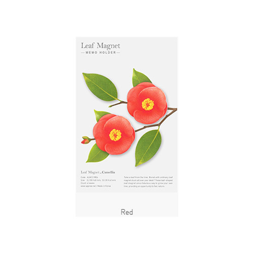 Red - Camellia leaves magnet set
