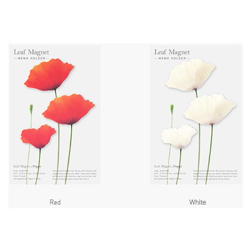 Color of Poppy magnet set
