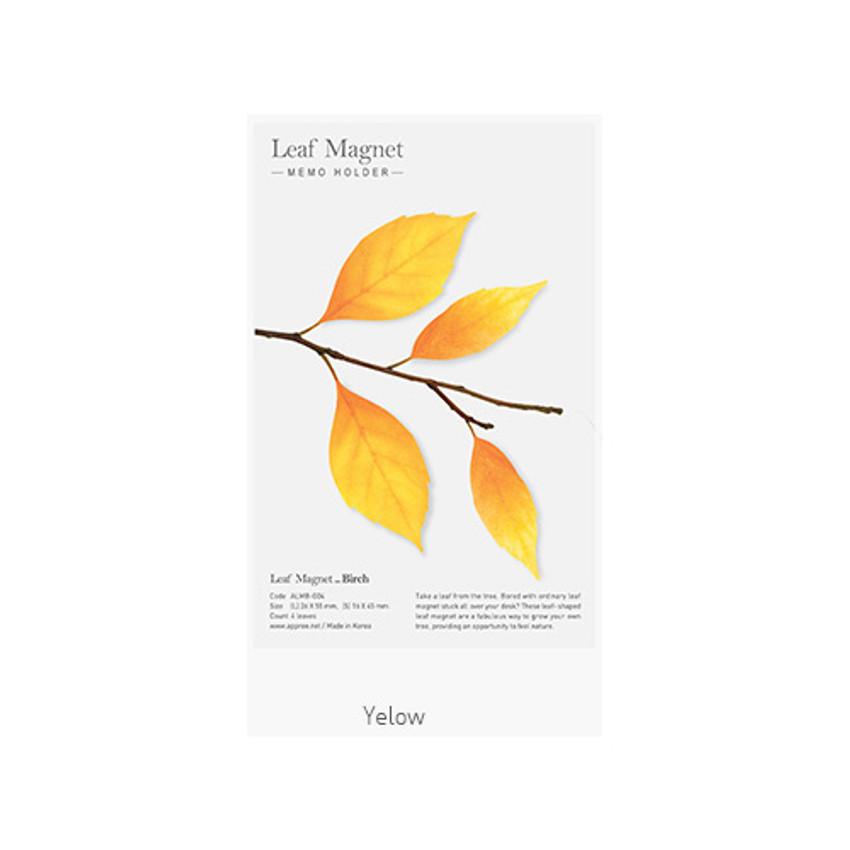 Yellow - Appree Birch magnet set