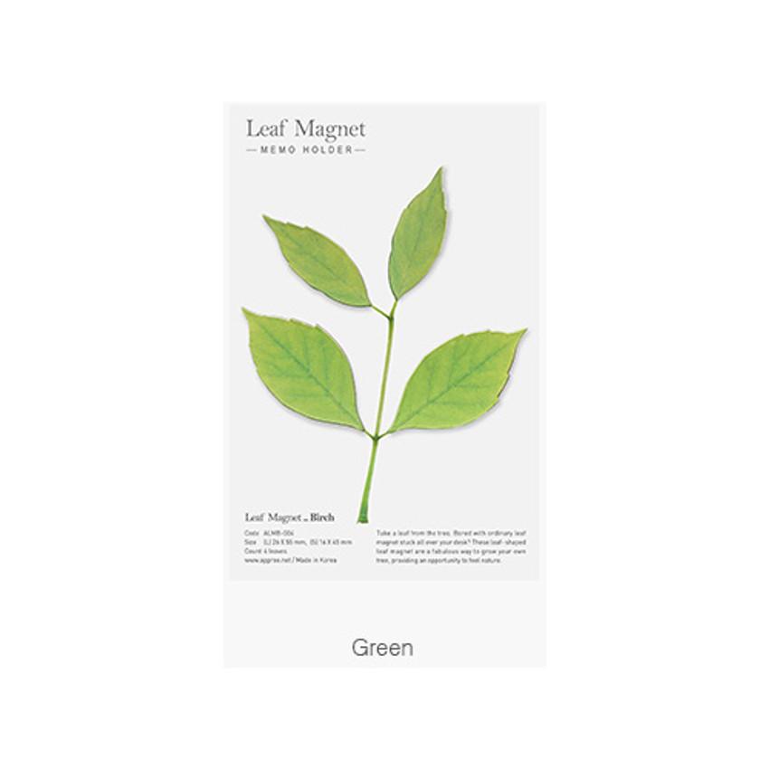 Green - Appree Birch magnet set