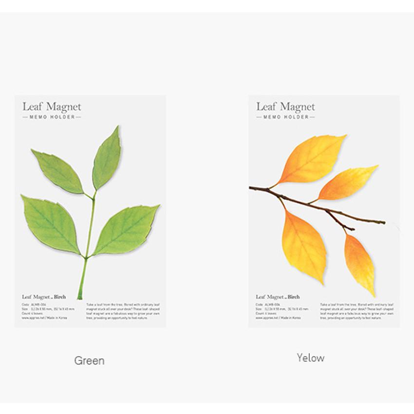 Color of Appree Birch magnet set