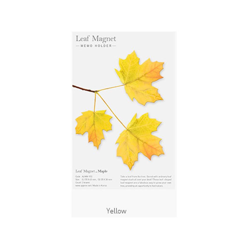 Yellow - Appree Maple magnet set