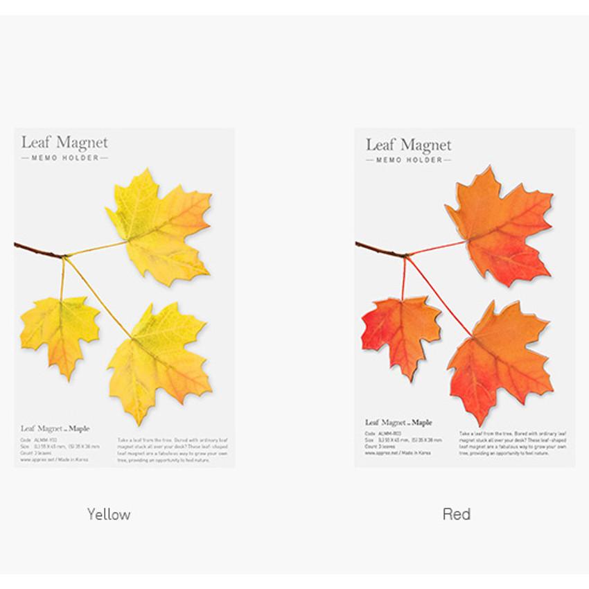 Color of Appree Maple magnet set