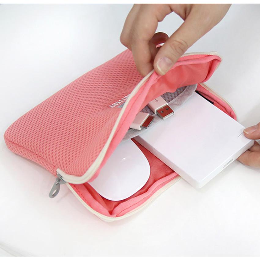Disco brick air mesh charger pouch