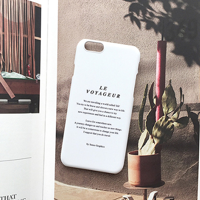 White - Le voyageur polycarbonate case for iPhone 6 6S