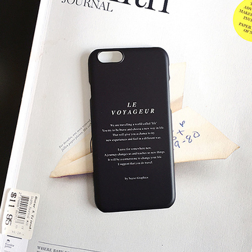 Black - Le voyageur polycarbonate case for iPhone 6 6S