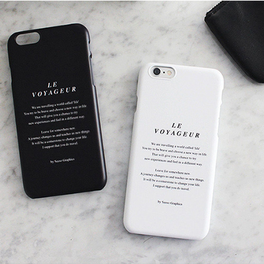 Le voyageur polycarbonate case for iPhone 6 6S