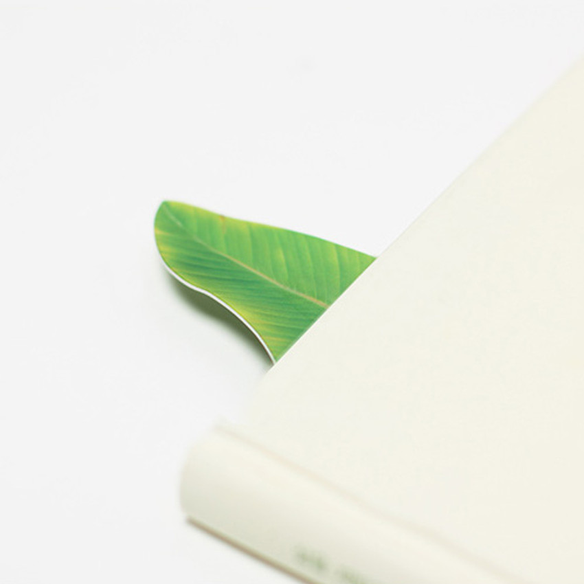 Bookmark - Appree Banana leaf bookmark black ballpoint pen set
