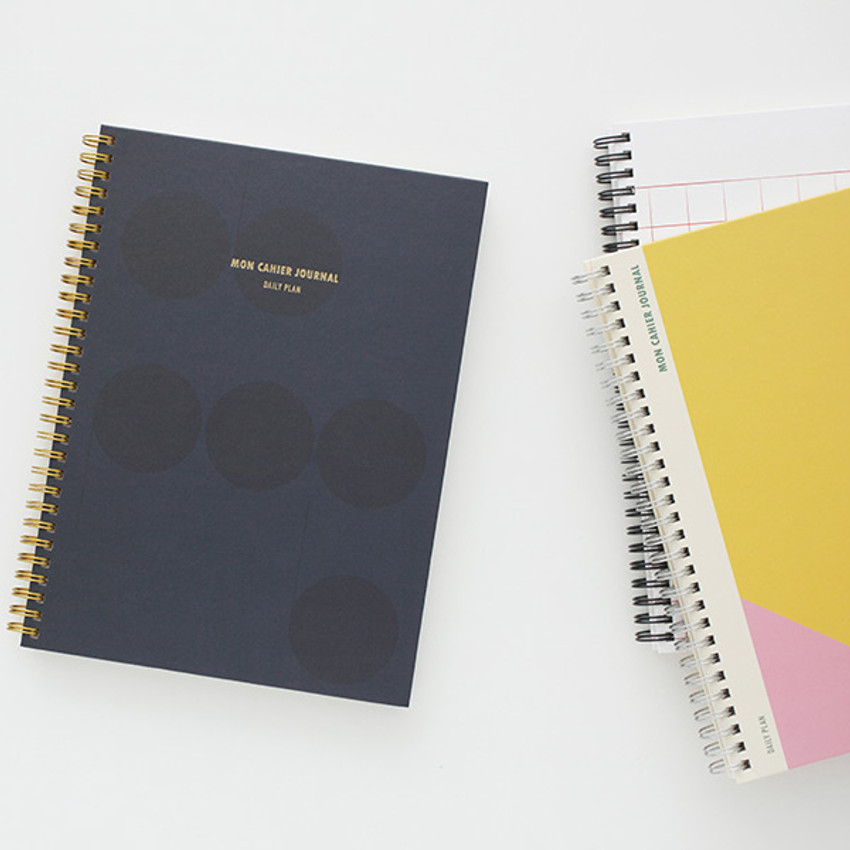 photograph about Large Daily Planner known as Livework Mon cahier wirebound hefty undated each day planner